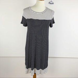 Monteau Striped Comfortable Tee Dress *NEW* D1267